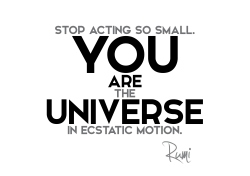 Rumi quotes you are universe