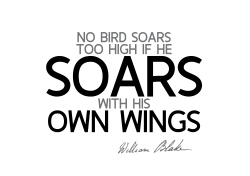 William Blake quotes bird soars